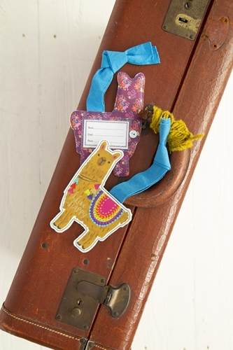 Natural Life: Luggage Tag - Llama Be Happy