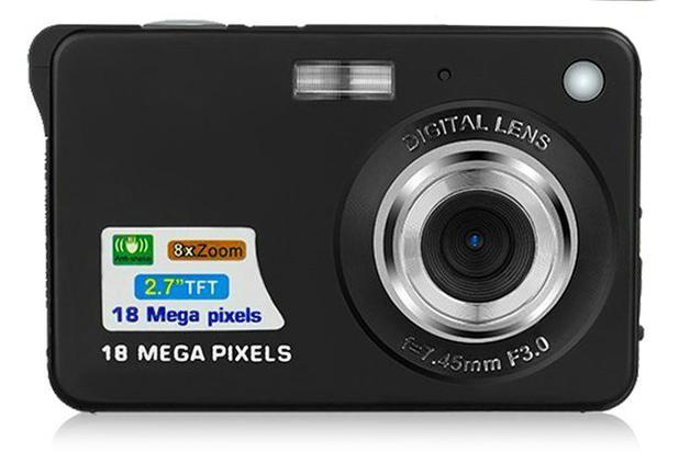 Ape Basics: Portable Mini 8x Zoom TFT LCD HD Digital Camera - Black