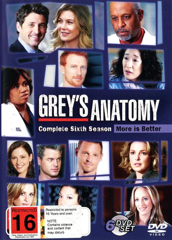 Grey\'s Anatomy - Season 6 (6 Disc Set)   DVD   On Sale Now   at ...
