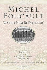 Society Must Be Defended by David Macey