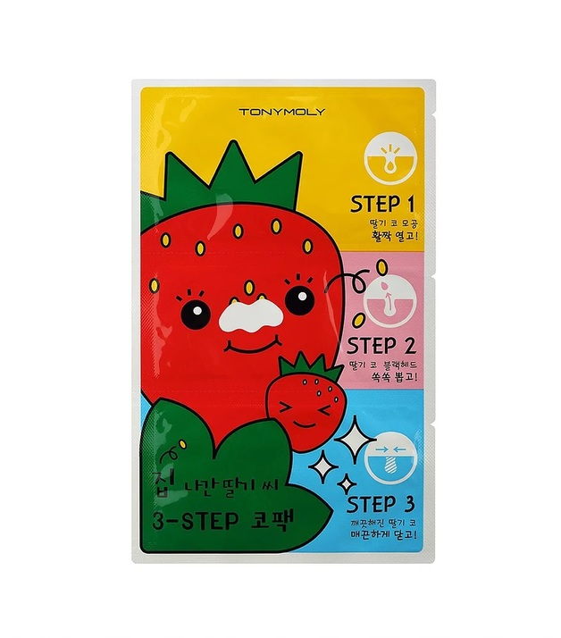 Tony Moly - Runaway Strawberry Seeds 3 Step Nose Pack (6g)