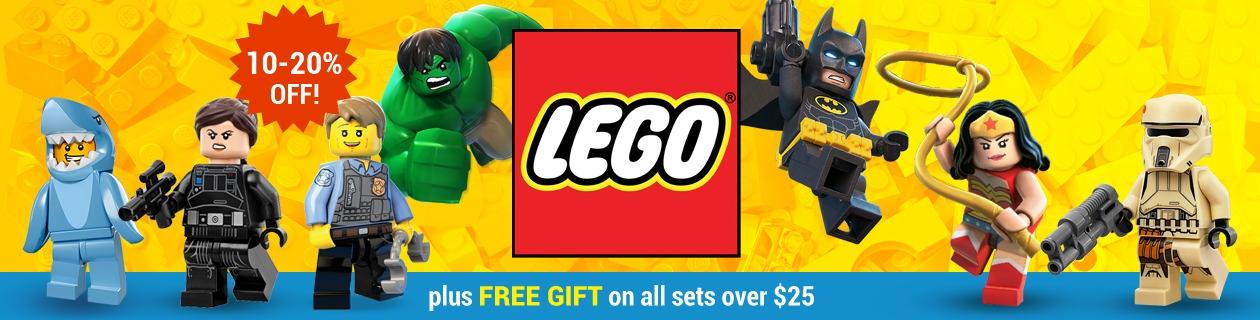 10-20% off LEGO sets