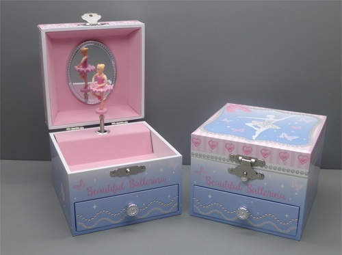 Pink Poppy: Beautiful Ballerina - Small Music Box (Blue)
