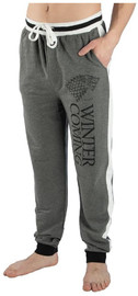Game Of Thrones: Stark Striped Jogger Pants (Large)