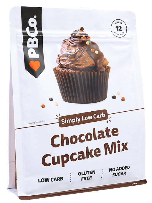 PBCo. Low Carb Chocolate Cupcake Mix (220g)