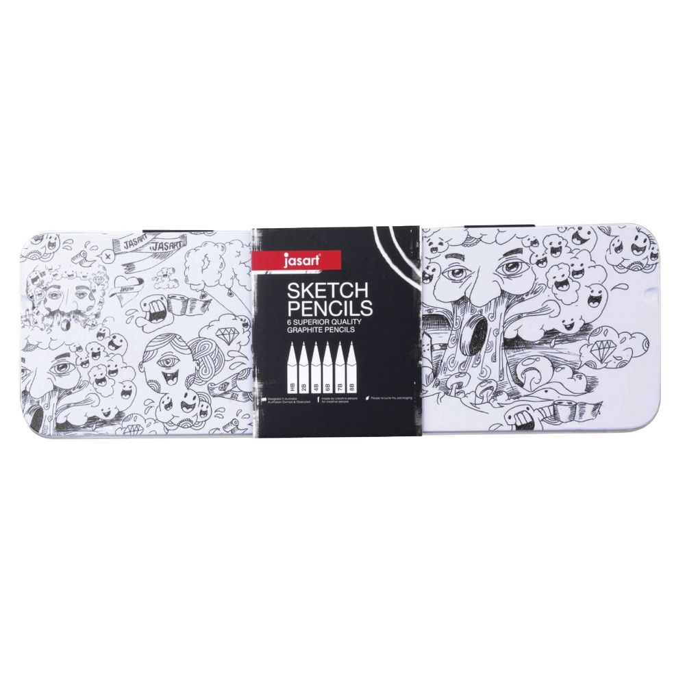 Jasart Sketch Pencil Tin - Set of 6 image