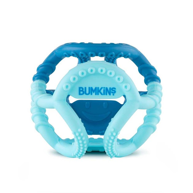 Bumkins Silicone Sensory Teether - Blue