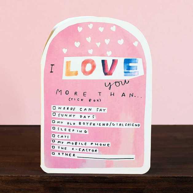 Laura Skilbeck: Love You More Than Anniversary Love Card