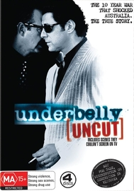 Underbelly - Season 1 Uncut (4 Disc Set) on DVD image