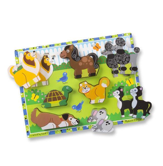Melissa & Doug: Pets Wooden Chunky Puzzle image