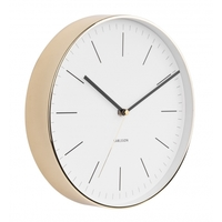 Karlsson Wall Clock - Minimal (Gold/White)