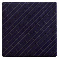 Maxwell & Williams Tessellate Ceramic Square Tile Coaster - Avenue Blue (9.5cm)
