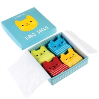 Baby Socks - Kitten (4 Pair)