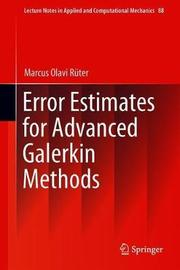 Error Estimates for Advanced Galerkin Methods by Marcus Olavi Ruter