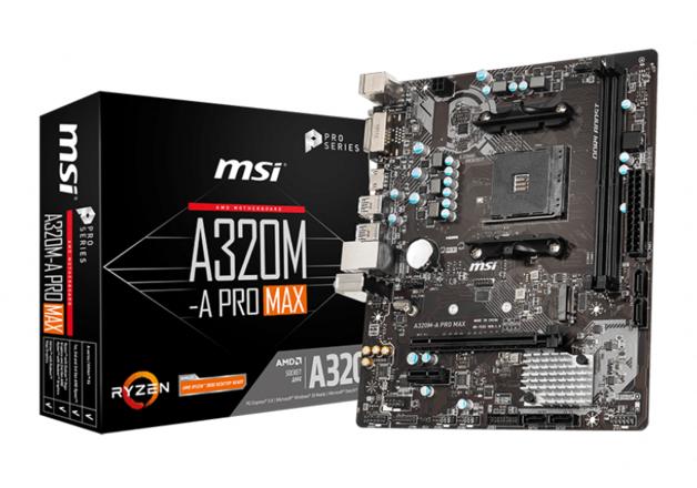 MSI A320M-A PRO MAX AM4 M-ATX Motherboard