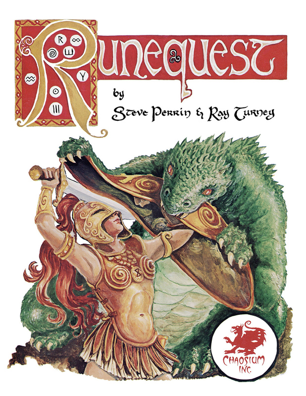 RuneQuest Classic Hardcover by Steve Perrin