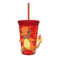 Pokemon Charmander Red Light-Up Travel Cup