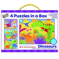 Galt: Four puzzles in a box - Dinosaurs