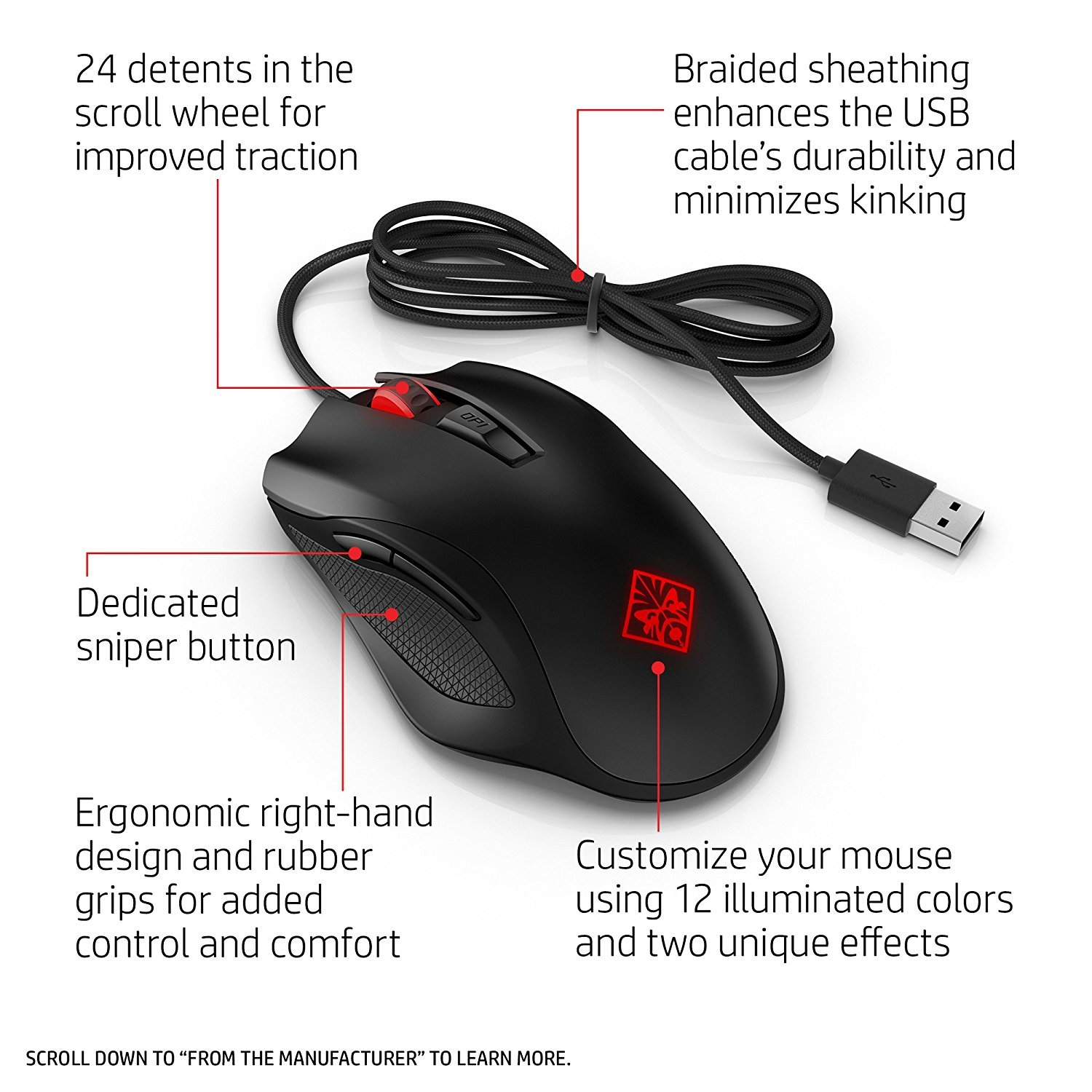 Hp Omen 600 Gaming Mouse Pc Game In Stock Buy Now