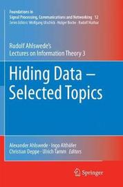 Hiding Data - Selected Topics by Rudolf Ahlswede