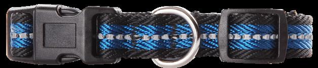 Pawise: Dog Reflective Collar - Blue/Medium(35-50cm/20mm)