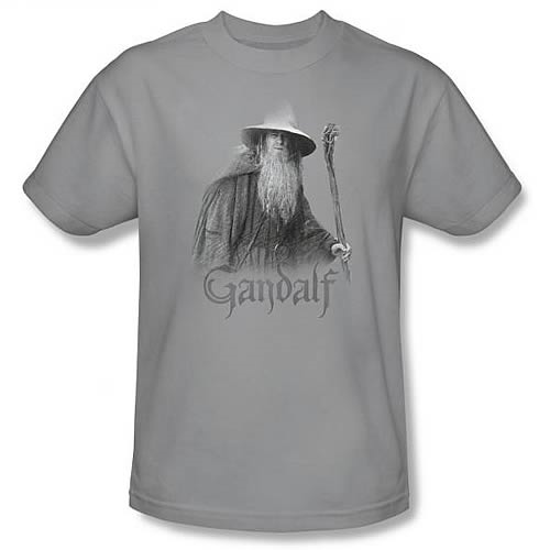 Lord of the Rings: Gandalf the Grey Silver T-Shirt - Medium