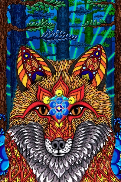 Electric Fox Maxi Poster (408)