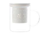 Maxwell & Williams - Lille Glass Mug with Infuser White (350ml)