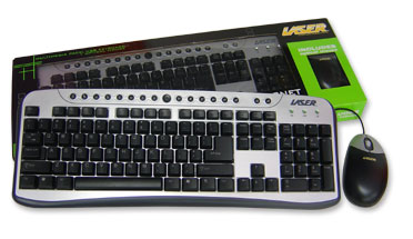 Laser Internet multimedia keyboard with optical  wheel mouse ps/2 image