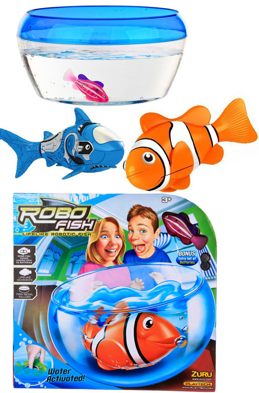 Zuru robo fish bowl 1 fish playset toy at mighty for Zuru robo fish