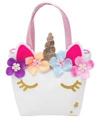Pink Poppy: Unicorn Bucket Bag with Shoulder Strap - Pale Pink