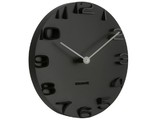 Karlsson On the Edge Wall Clock (Black)