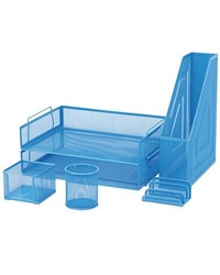 FM 6 Piece Mesh Desk Set - Blue