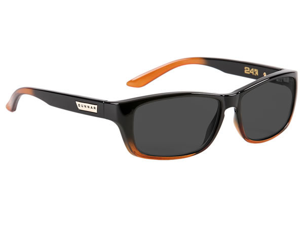 Gunnar Micron 24K Advanced Computer Eyewear (Dark Ale/Grey Lens) for  image