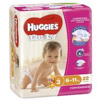 Huggies Ultra Dry Nappies - Size 3 Crawler Girl (22)