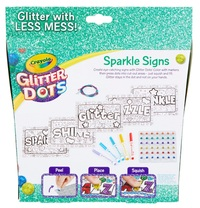 Crayola: Glitter Dots - Sparkle Signs Craft Kit image