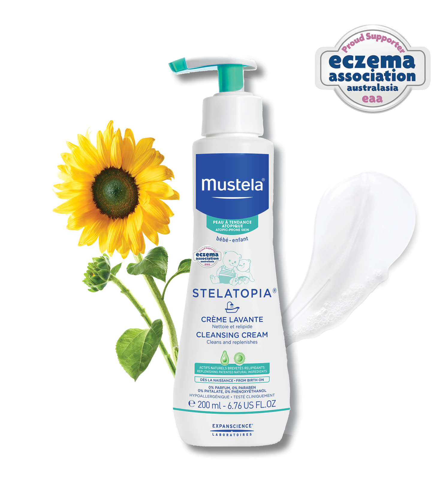 Mustela: Stelatopia Cleansing Cream - 200ml image