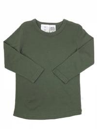 Babu: Merino Crew Neck Long Sleeve T-Shirt - Khaki (4 Years)