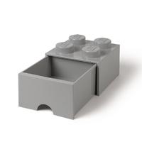 LEGO Storage Brick Drawer 4 (Stone Grey)