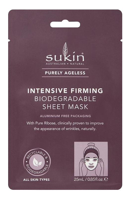 Sukin: Purely Ageless Intensive Firming Biodegradable Sheet Mask (25ml)