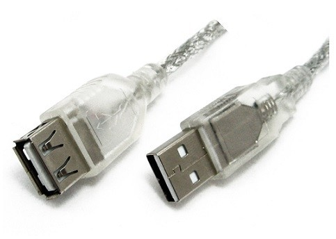8ware 2m USB 2.0 Extension Cable A-A M-F (Transparent)