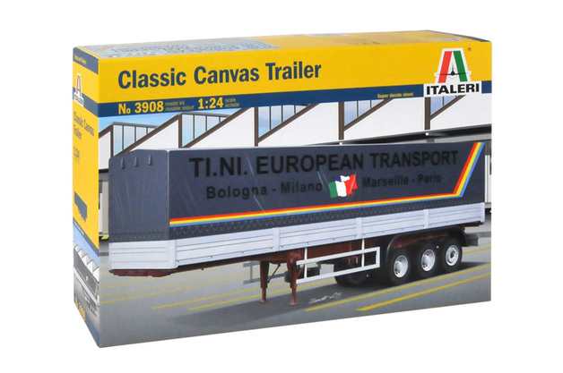 Italeri Classic 40FT Canvas Trailer 1:24 Scale Model Kit