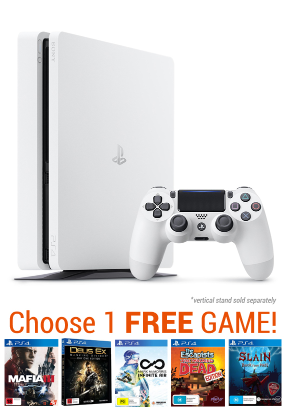 PS4 Slim 500GB Console - White for PS4 image