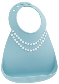 Make My Day: Silicon Baby Bib - Pearls Aqua