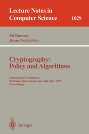 Cryptography: Policy and Algorithms image