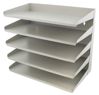 Fluteline 5 Tier Letter Tray Slope Back - Grey