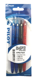 Pilot Super Grip-G Retractable Ballpoint Pen - Assorted (4 Pack)