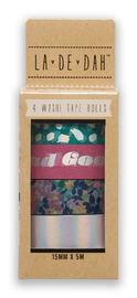 La De Dah: Good Times Printed Washi Tape (4 Pack)