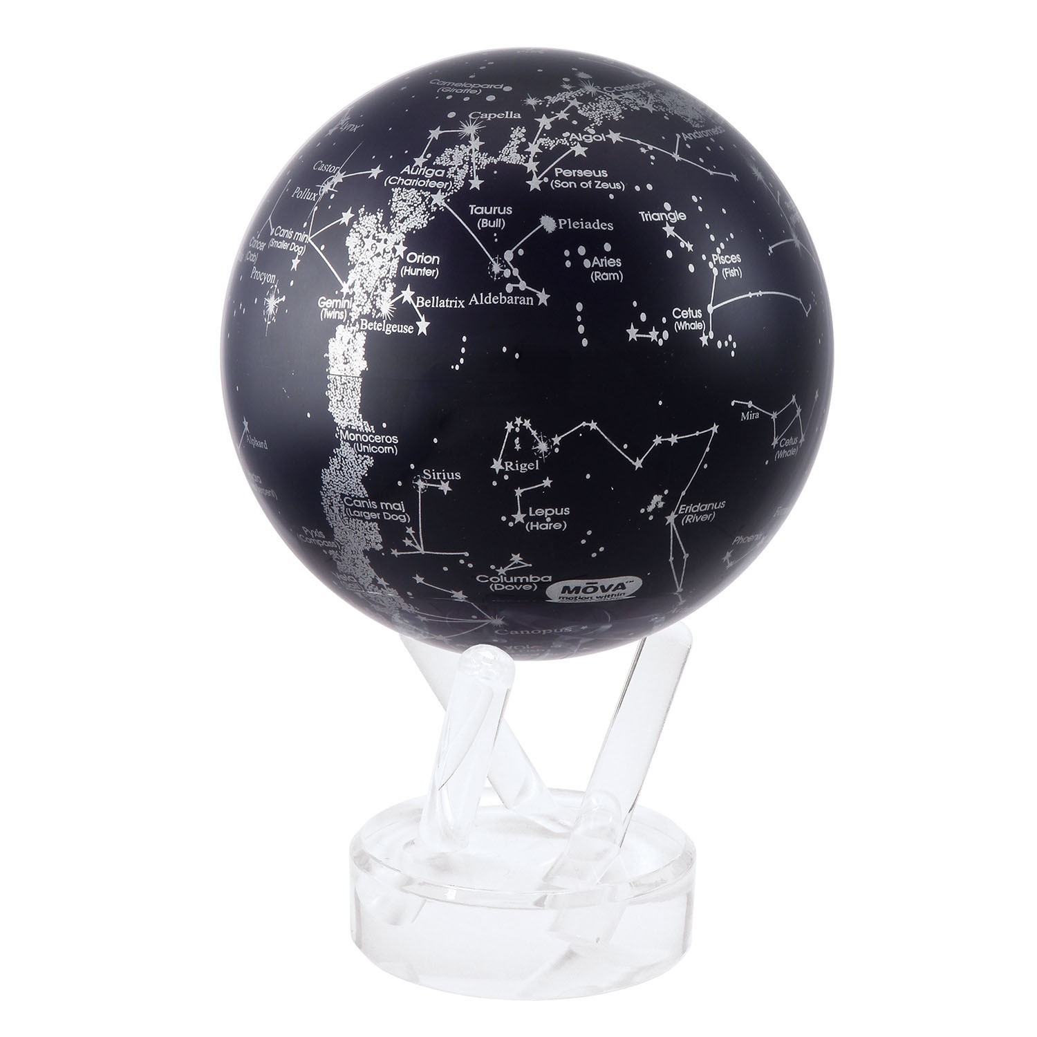 MOVA Self-Rotating Globe Silver Constellation in Blue image