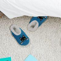 Slumbies Peek-A-Boo Cat Pairables Slippers (L) image